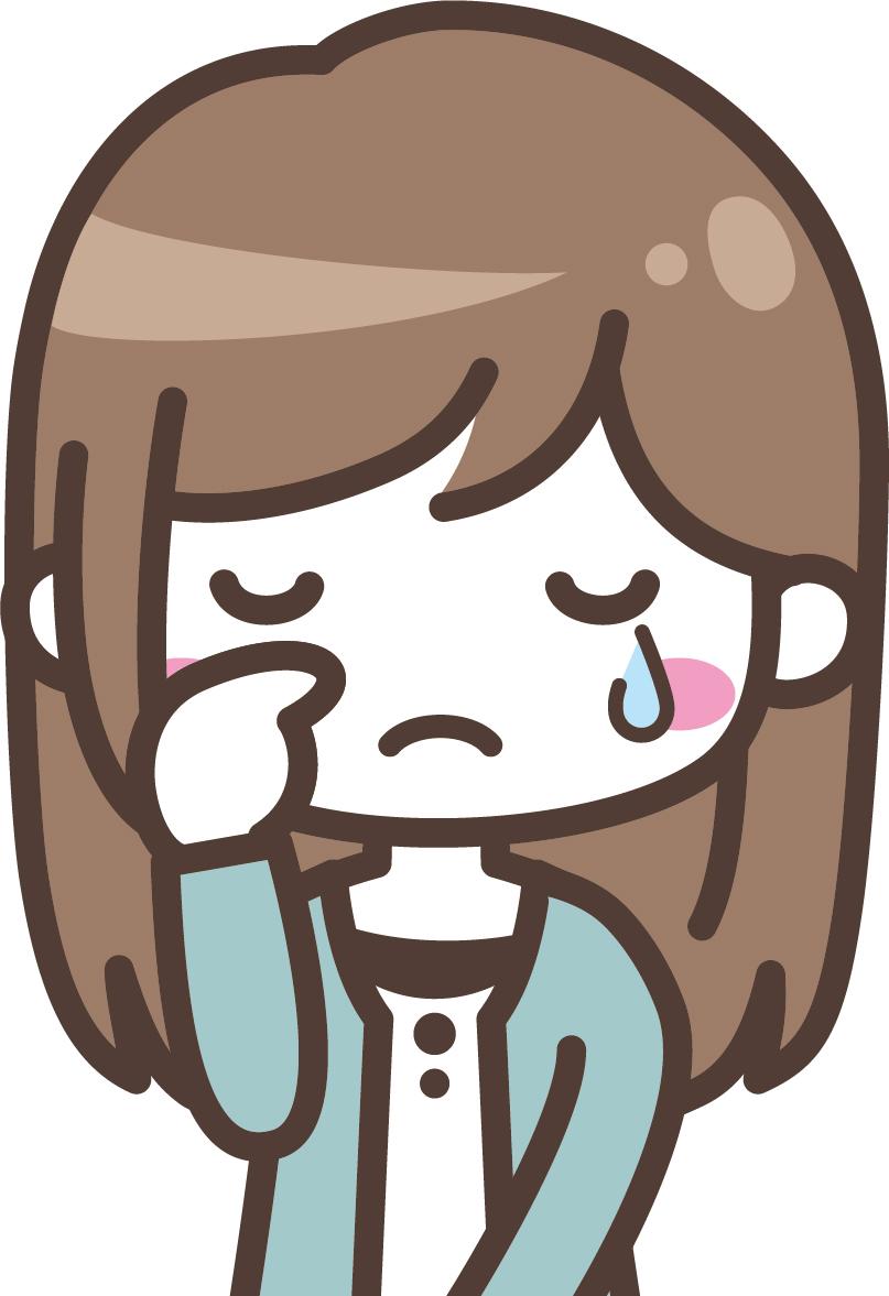 辛いと泣く女性