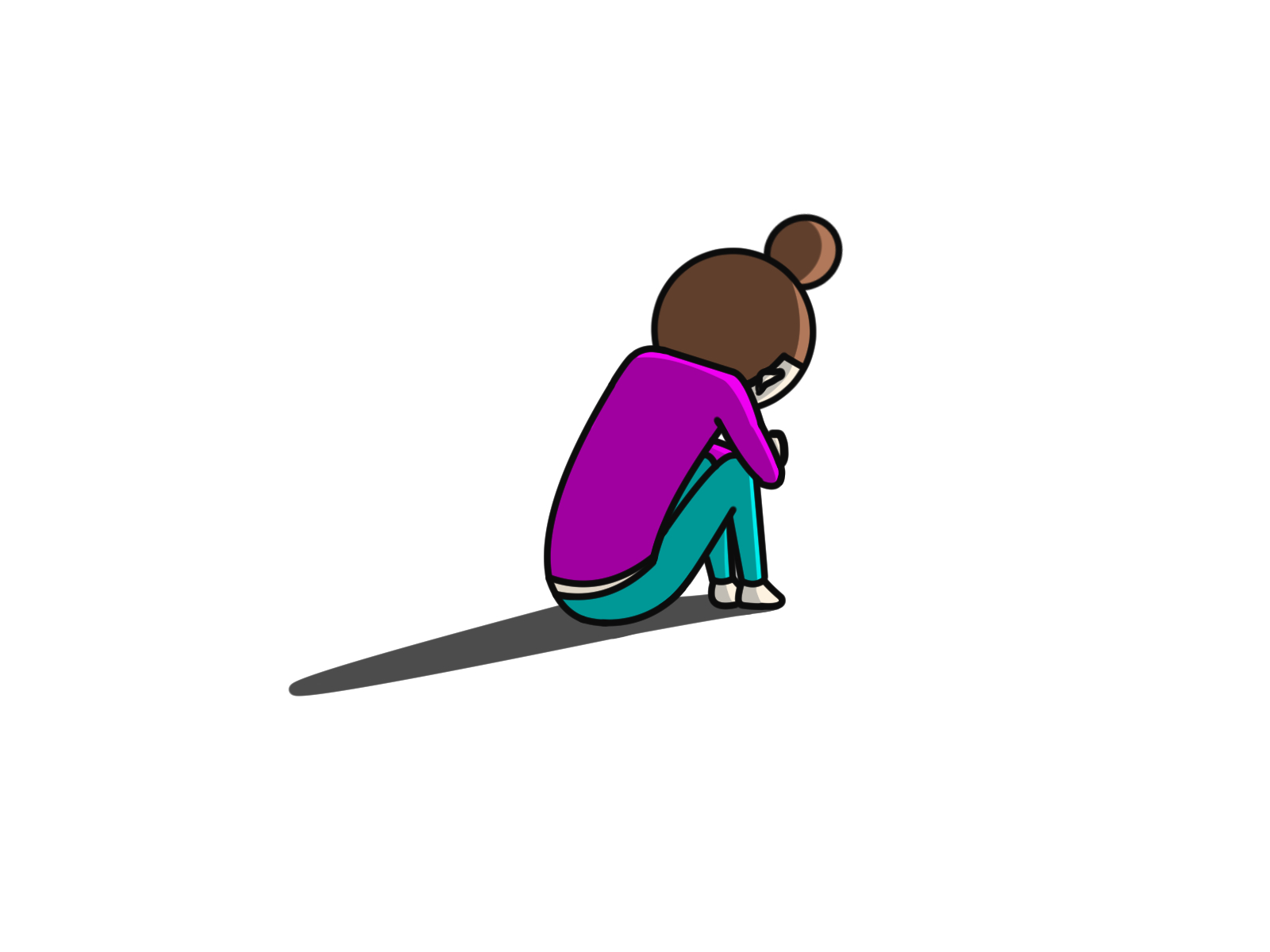 孤独で落ち込む人