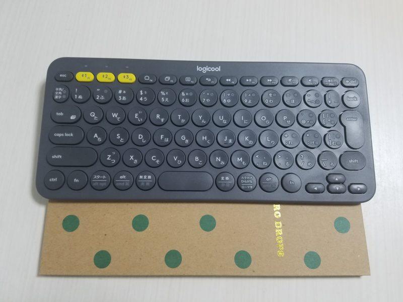 キーボードとノートの比較
