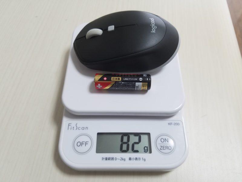 マウスの重量