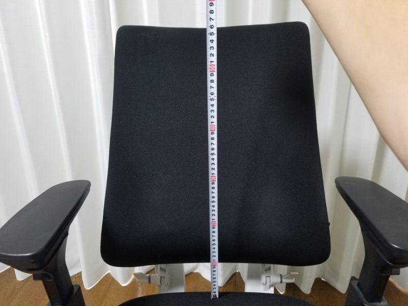椅子背面高さ