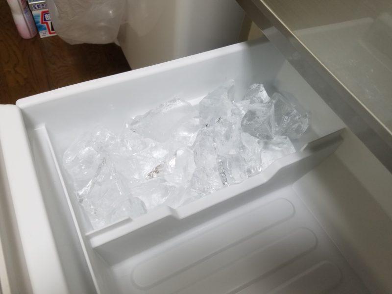 完成した氷